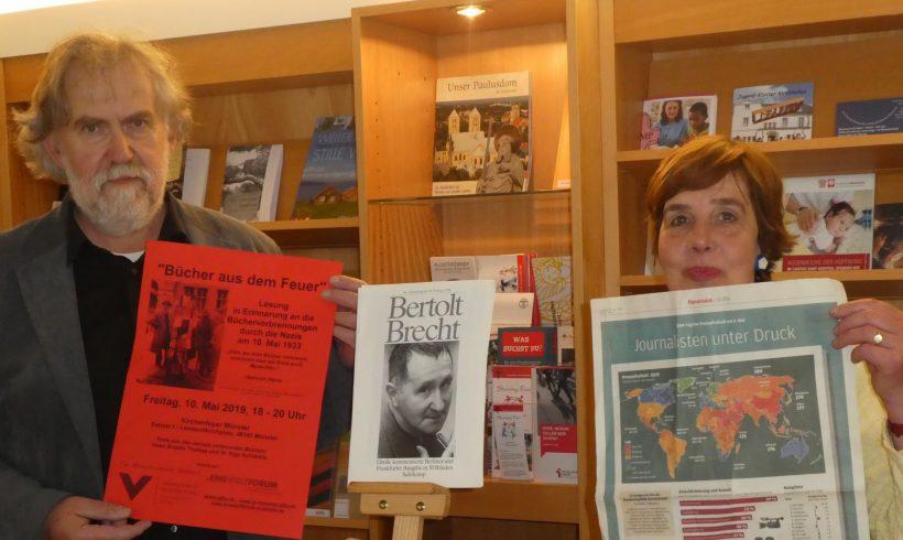 Bücher aus dem Feuer. Lesung in Erinnerung an die Bücherverbrennungen am 10. Mai 1933