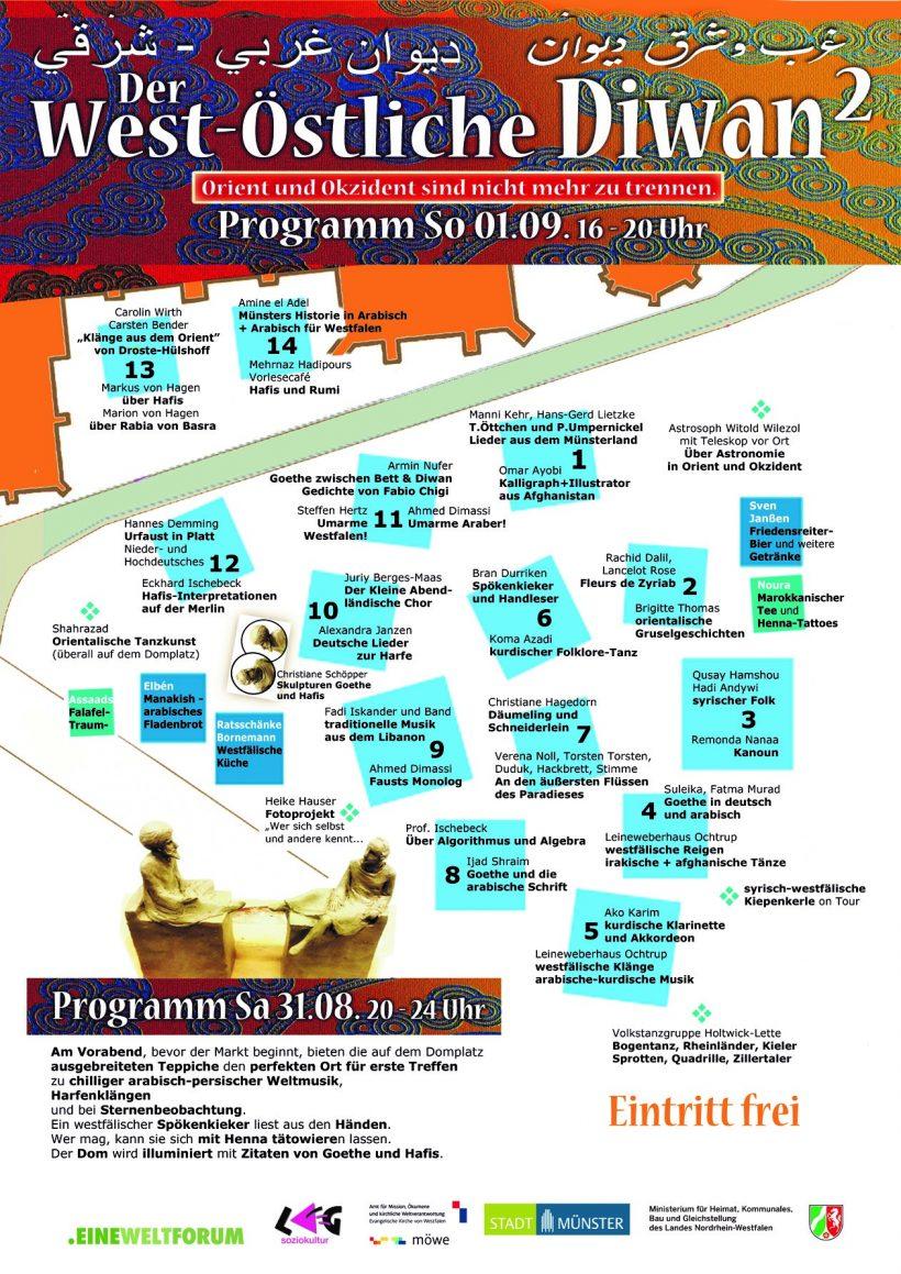 West-Östlicher Diwan: Programm und Lageplan