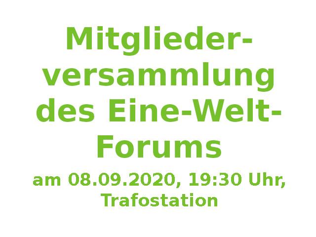Mitgliederversammlung Eine-Welt-Forum