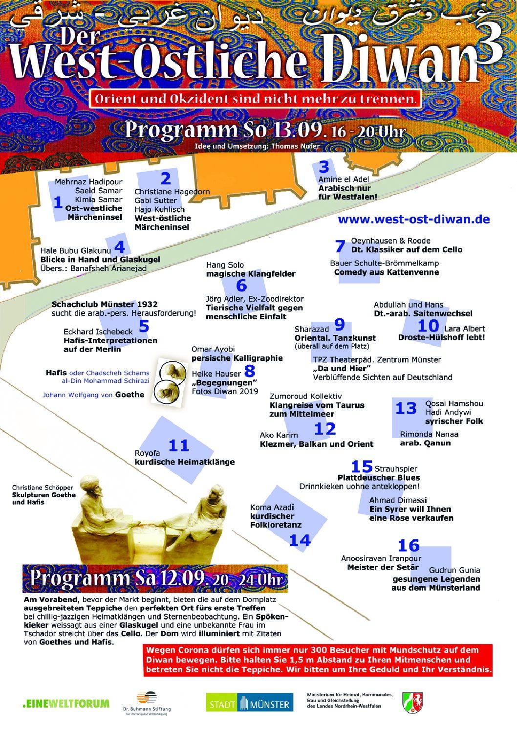 Programm für den West-Östlichen Diwan 2020 veröffentlicht